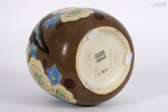 CATTEAU CHARLES (1880 1966) Art Deco vase (illegib…