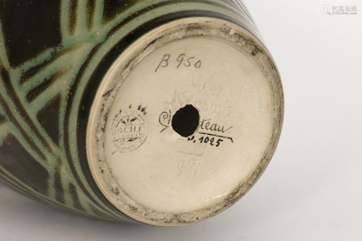CHARLES CATTEAU Art Deco vase (model 967) in grès,…