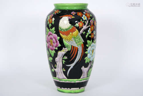 Art Deco vase (model 914) in faience, marked \