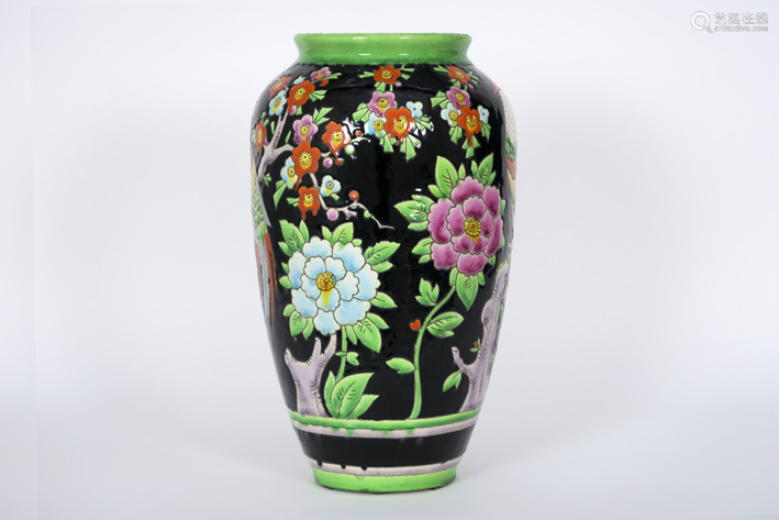 Art Deco vase (model 914) in faience, marked \