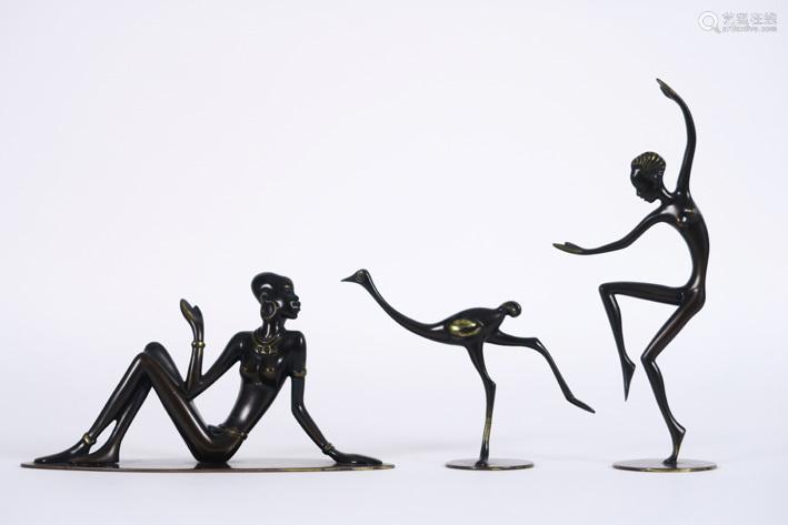 ROHAC RICHARD (1906 1965) three small sculptures w…