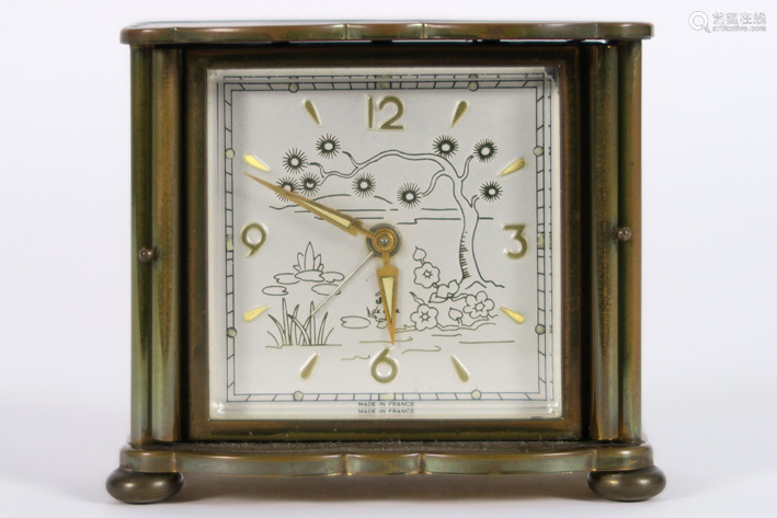 JAZ cute French alarm clock with case in lacquered…