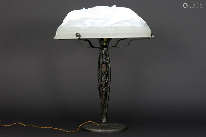 VERLYS beautiful rather large Art Deco lamp with w…