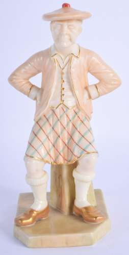 Royal Worcester good figure of the Scotsman in blush
