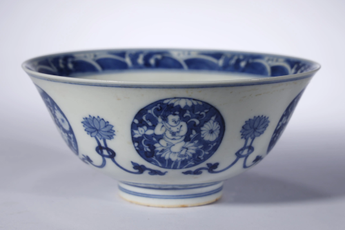 Qing Dynasty,Blue and White Bowl