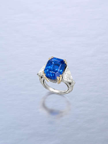 An Impressive Sapphire and Diamond Dress Ring, by La Serlas