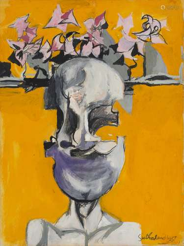 Graham Sutherland O.M. (British, 1903-1980) Head 33 x 24.8 cm. (13 x 9 3/4 in.)