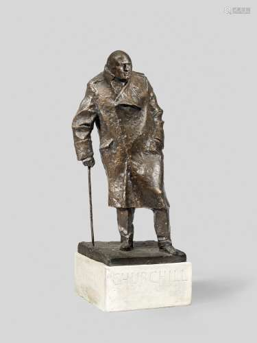 Ivor Roberts-Jones (British, 1916-1996) Sir Winston Churchill, maquette for the monument in Parli...