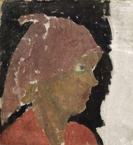 Duncan Grant (British, 1885-1978) Vanessa Bell 27.8 x 25.5 cm. (11 x 10 in.) (Painted circa 1913)