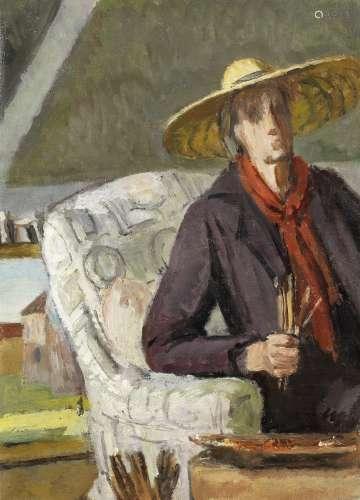Vanessa Bell (British, 1879-1961) Self Portrait 42 x 31 cm. (16 1/2 x 12 1/4 in.) (Painted circa ...