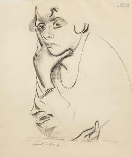 Percy Wyndham Lewis (British, 1882-1957) The Sullen Eye 48.3 x 35.5 cm. (19 x 14 in.)