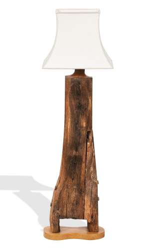 Lincoln Cathedral interest: a contemporary treen standard lamp