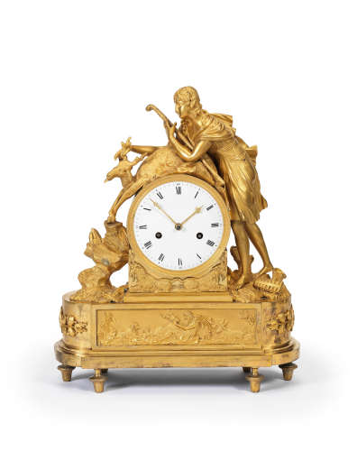 An early 19th century French ormolu mantel clock Unsigned 3