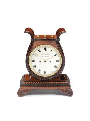 An early 19th century mahogany bracket clock with trip repeat James McCabe, Royal Exchange London 5