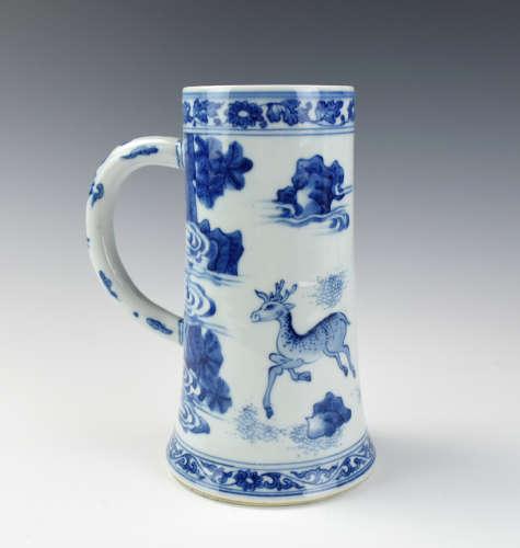Large Chinese Blue & White
