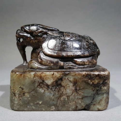 Han Dynasty - Carved Tortoise shape Seal