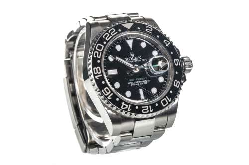 A GENTLEMAN'S GMT-MASTER II STAINLESS STEEL WATCH