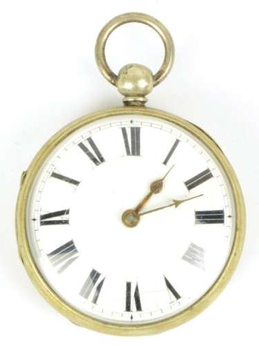 A British open face verge movement pocket watch by…