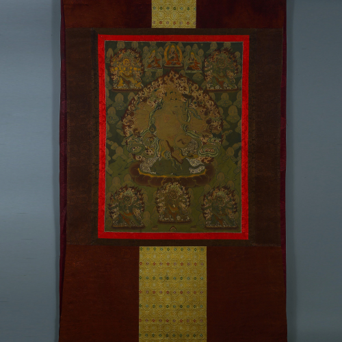 Qing Thangka Embroidery God of Wealth