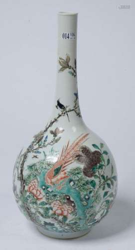 Soliflore vase in polychrome porcelain of China ca…