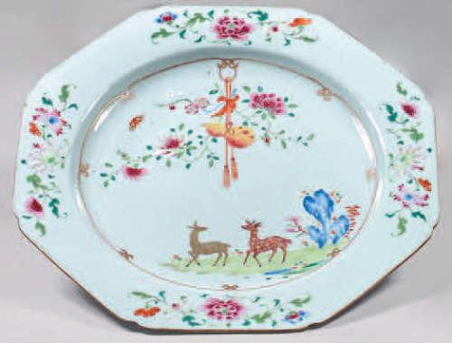 Chinese porcelain dish. Qianlong, 18th century. Oc…