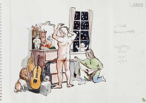 Dame Paula Rego R.A. (British, born 1935) La Toilette (After Wright of Wakefield) (unframed)