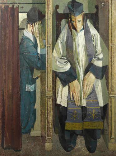 Norman Blamey O.B.E., R.A. (British, 1914-2000) Confession and Absolution