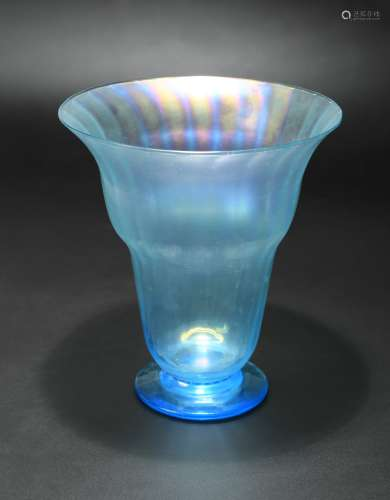 A John Walsh Walsh Moonbeam lustre glass vase, circa 1890,
