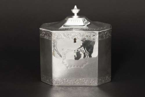 18th Cent. neoclassical tea box in marked and