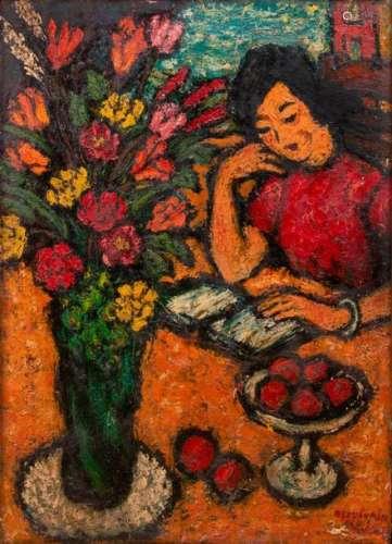 Nguyễn Văn Phương (1930 2006) Femme lisant / …