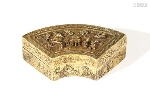 Qing Dynasty - Gilt Flower Pattern Box