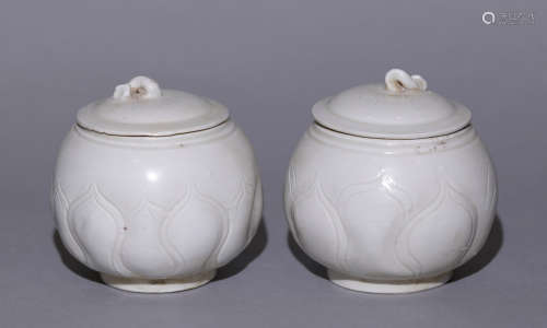 Song Dynasty - Pair of Ding Ware Jar