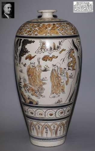 Song Dynasty - Cizhou Ware Figure Pattern Vase