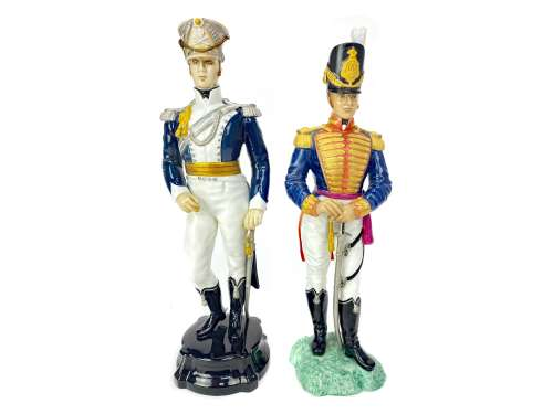 A LOT OF FIVE ROYAL WORCESTER THE HISTORICAL MILITARY SERIES FIGURES