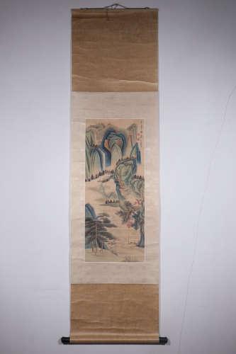 Chinese Xie Zhiliu'S Painting