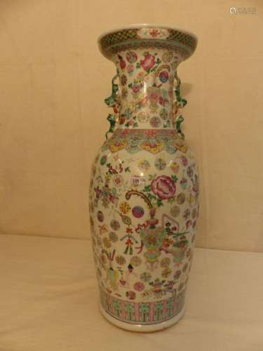 A large Chinese porcelain vase circa 1900 (* a cra…