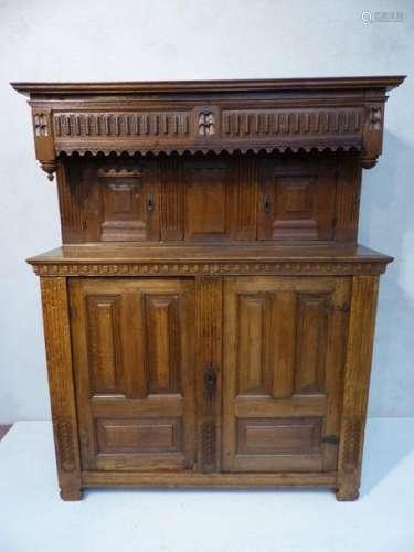 Oak renaissance troonkast. Period: 17th century.