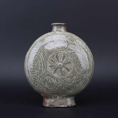 A Yao zhou kiln bottle,Qing dynasty