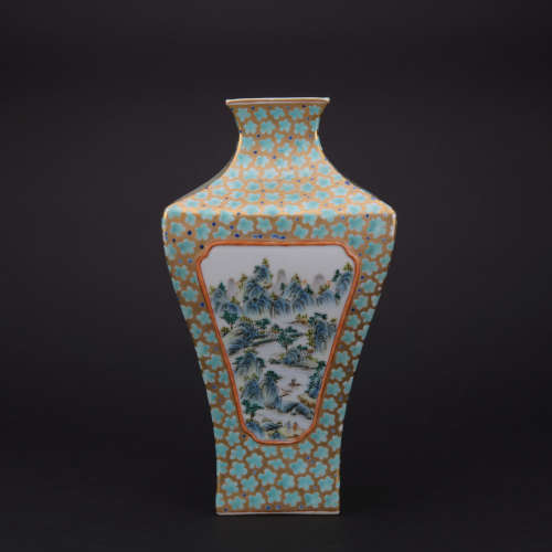 A famille-rose 'figure' vase,Qing dynasty