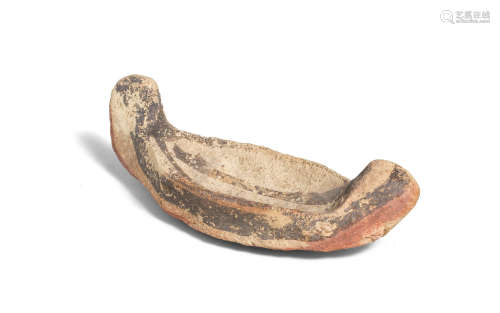 A Cypriot Bichrome Ware terracotta model boat