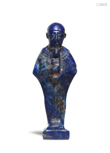 An Egyptian lapis lazuli amulet of Ptah