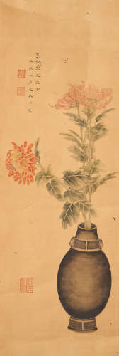 Luo Xian (19th/ 20th century) Flower Arrangement with Archaic Bronze