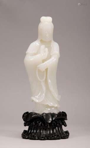 Qing Dynasty - Hetian Jade Avalokitesvara Ornament