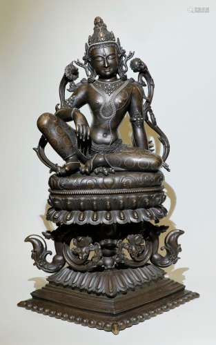Qing Dynasty - Large Bronze Tara Statue