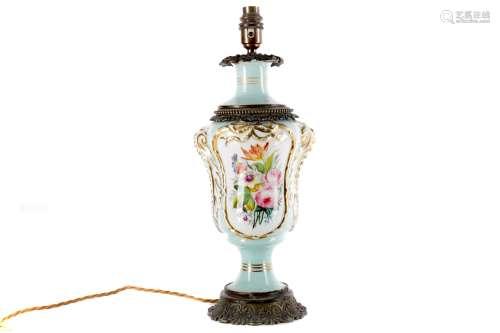 A PAIR OF PARIS PORCELAIN VASE LAMPS