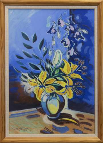 FLORAL STILL LIFE, A PASTEL BY CAMPBELL SMITH