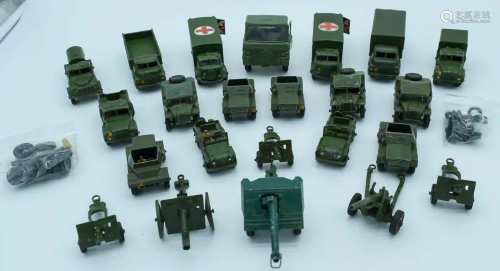 Collection of Vintage Dinky military models. (qty)