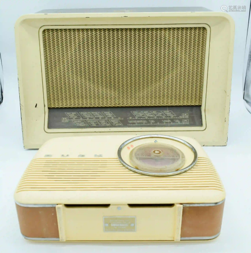 A vintage Bush radio together with a His masters voice