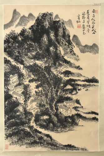 PREVIOUS COLLECTION OF QIAN JINGTANG CHINESE SCROLL