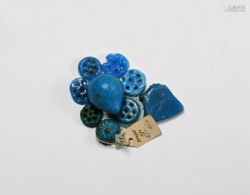 Egyptian Deep Blue Amulet Collection